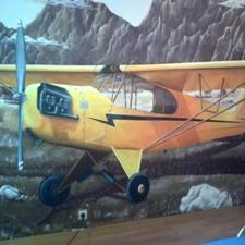 Décor avion vintage / chambre ado