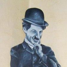 Charlie Chaplin / bois découpé