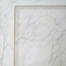 marbre blanc veiné / sur kraft