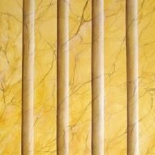 marbre jaune de sienne / sur kraft