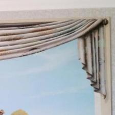 Changement de rideau sur peinture déjà existante